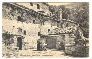 Assisi (Perugia), Umbria, Italy, 1900-1910s ; Eremo della Carceri - Chiostro ...