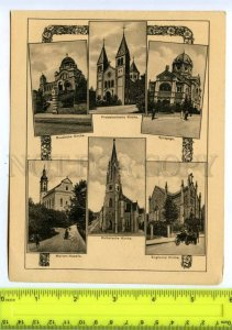414782 GERMANY Bad Kissingen Protestant Catholic Church synagogue poster card