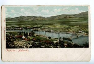 132965 CROATIA Greetings from METKOVICA Vintage postcard