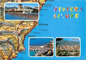 Italy Riviera Ligure multiviews Loano Alassio Albenga Spiaggia Port Boats