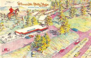 Warrenton Virginia horseback rider Warrenton Motor Lodge antique pc ZA440373