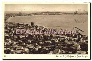 Old Postcard View Golfe Juan and Juan les Pins