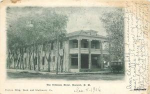1906 Gilkeson Hotel Roswell New Mexico Payton Drug undivided postcard 8910