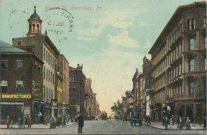 Market Street Harriburg PA Vintage Postcard