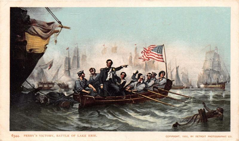 PUT IN BAY BATTLE OF LAKE ERIE~OHIO PERRYS VICTORY POSTCARD 1900s