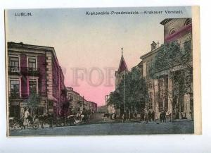 192581 WWI POLAND LUBLIN Krakowskie Przedmiescie street Old