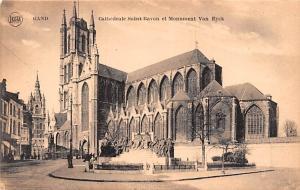 Gand Belgium, Belgique, Belgie, Belgien Cathedrale Saint Bavon et Monument Va...