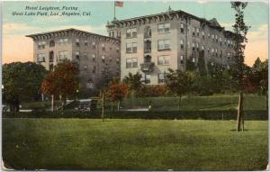 Los Angeles, Hotel Leighton Facing West Lake Park - 1910-1015