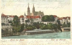 pc8574 postcard Gruss aus Basel Switzerland postally used 1905