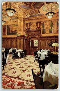 Chicago Illinois~Hotel Brevoort Vintage Interior~Grille Room~1911 Postcard