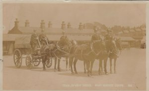 RP: WOOLWICH , SE London, England , 1905 ; Team Review Order. Army Service Corps