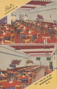 Washington D C Sholl's Cafeteria Interior Views 1951 sk1836