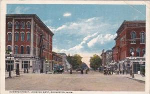 Minnesota Rochester Zumbro Street Looking West 1917