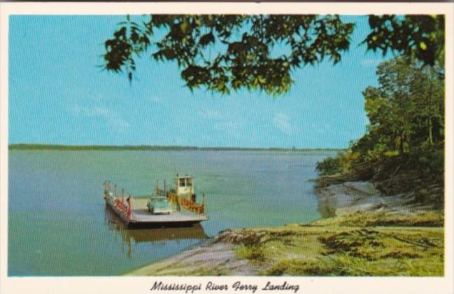 Tiptonville-Portageville Ferry On Mississippi River Tennessee
