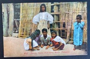 Mint Picture Postcard Pannia Native Shelf Game  Manila Philippines