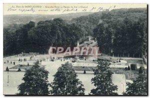 Old Postcard Parc de St Cloud Fountains Basin Fer a Cheval
