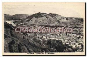 Postcard Old Tournon Tain and to the Hermitage