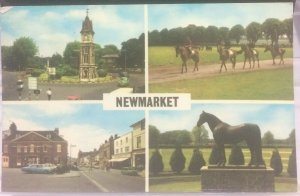 England Newmarket Clock Tower Rutland Arms Hotel etc - posted 1972