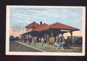 LAWTON OKLAHOMA FRISCO RAILROAD DEPOT TRAIN STATION VINTAGE POSTCARD OKLA.