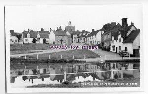 aj0009 - Finchingfield Village from the pond , Essex - postcard