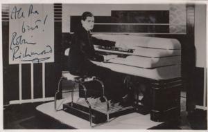Robin Richmond at 1930s Hammond Electric Organ Hand Signed Photo Postcard Letter