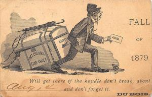 Du Bois IL J & T Cousins Fine Shoes Illustrated 1879 Postal Card