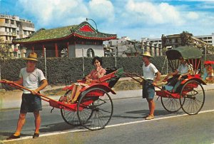 Pleasure rides on Richshaws in Jordan Road Kowloon Hong Kong 1982