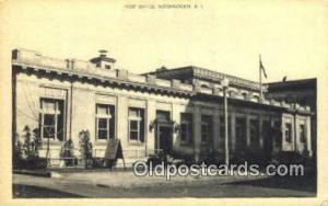 Woonsocket, RI USA,  Post Office Postcard, Postoffice Post Card Old Vintage A...
