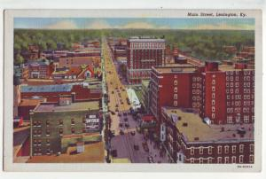 P1156 vintage postcard birds eye view main street scene lexington kenucky