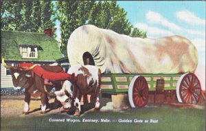 COVERED WAGON in the beautiful west, 1940s