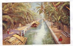 Canal Scene from Colombo, Ceylon, 00-10s