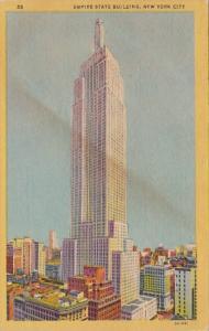 New York City Empire State Building 1955 Curteich