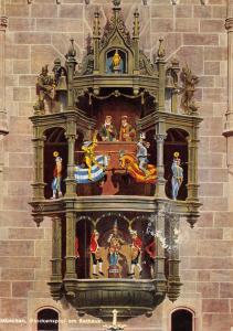 Germany Munchen Glockenspiel am Rathaus Carillon at the City Hall