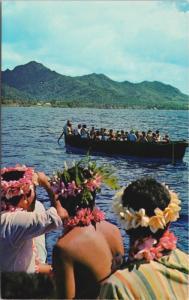 Boat Day Rarotonga Cook Islands Maori Kia Orana Vintage Postcard D48