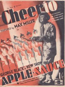Cheerio 1940s Max Miller MISPRESSED Rare Sheet Music