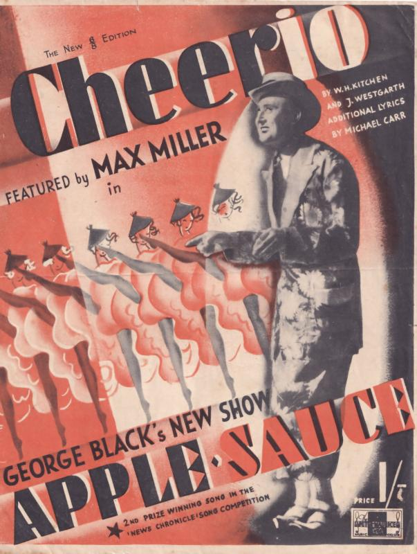 Cheerio 1940s Max Miller MISPRESSED Rare Sheet Music