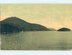 Divided-back NATURE SCENE Lake Memphremagog - Newport Vermont VT AD7895