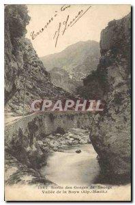 Postcard Old Exit Gorges Saorge Vallee Roya Alp Marit