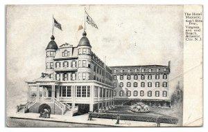 1907 Hotel Majestic, Atlantic City, NJ Postcard *6J27
