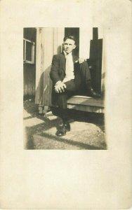 Postcard RPPC Young Gentleman