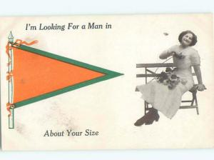 Divided-Back PRETTY WOMAN Risque Interest Postcard AA7898