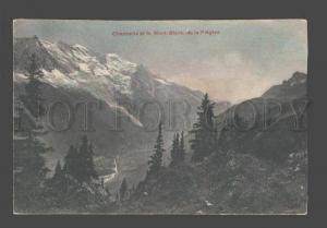 084390 FRANCE Chamonix et le Mont-Blance de la Flegere Vintage