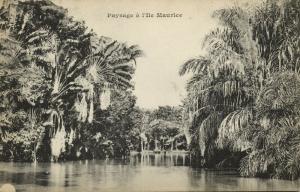 mauritius, Paysage, Landscape (1899) Messageries Maritimes