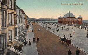 Pavilion and Parade, Rhyl, Wales, Great Britain, Early Postcard, Unused