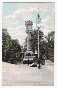 The Christie Memorial Clock & Black Boy , STIRLING , Scotland , PU-1906