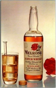 1960s MELROSE Blended SCOTCH Whisky Advertising Postcard Bottle View Unused