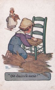 H.G.C. Marsh Lambert Old Chairs to Mend Comic Postcard