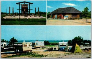 Chincoteague, Virginia Postcard MADDOX SAFARI CAMPGROUND Multi-View 1960s Chrome