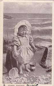 TUCK #5606; Our Darlings, PU-1907; Stormy Weather, Toddler Crying, Bonnet