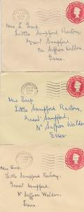 Two Pence Halfpenny Postage 3x Cambridge 1956 Cover Stamp Envelope s